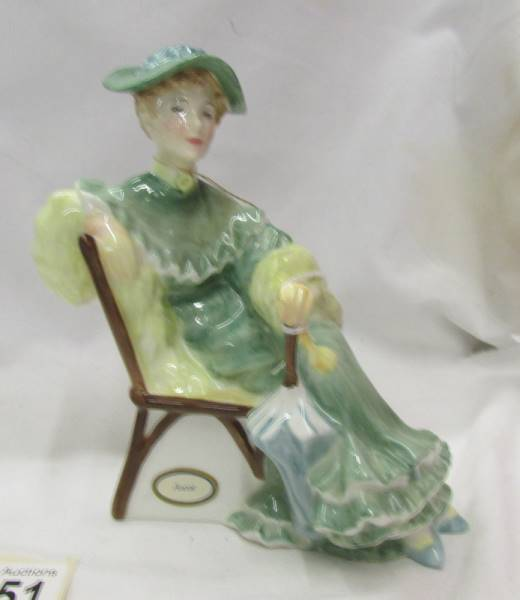 Two Royal Doulton figurines - Lucy HN 3858 and Ascot HN 2356. - Image 4 of 5