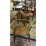 A Windsor chair.