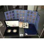 A quantity of coin sets including 150 tales from the Tube £2 set