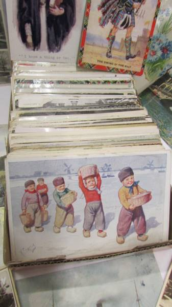 In excess of 200 interesting old postcards and greeting cards. - Image 6 of 6