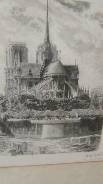 """A framed and glazed engraving """"Notre Dame Du Paris"""". - Image 2 of 3"""