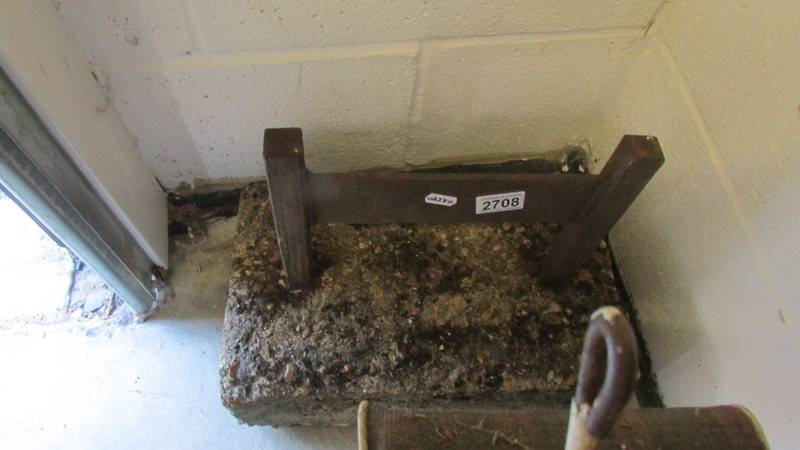 An old boot scraper.