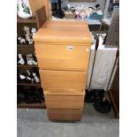 2 beech effect 2 drawer office cupboards