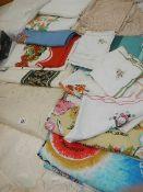 A mixed lot of linen.