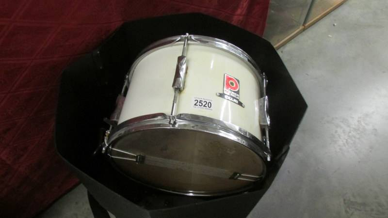 A small snare drum, Premier club, Everplay heads.