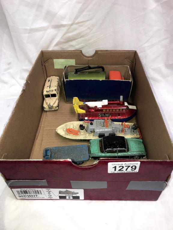 A selection of 1960's Dinky toys including Humber hovercraft etc.