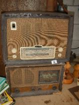 Two old radio's.
