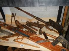A good lot of vintage wood working tools.
