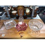 A carnival glass bowl,