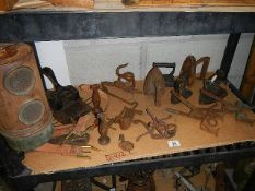 A large lot of cast iron work.