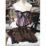 5 Steam Punk corsets in a variety of colours & sizes.