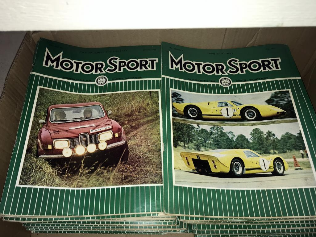 Approximately 95 early 1970's Motor sport car magazines (2 boxes) - Image 2 of 3