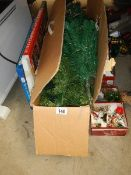 A mixed lot of Christmas items.