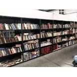 36 shelves of books, including magazines, reference, fiction etc.