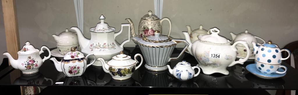 A good selection of pottery & porcelain teapots
