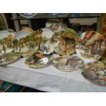 A large quantity of collector's plates.