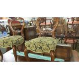 A good pair of Victorian mahogany cabriole leg chairs.