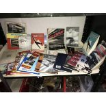 A quantity of booklets relating to aviation plus a few tram/bus ones