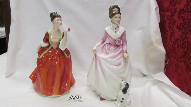 Two Royal Doulton figurines - Flower of Love, HN 3970 and Good Companion, HN 2347.