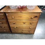 A solid pine 4 drawer chest of drawers