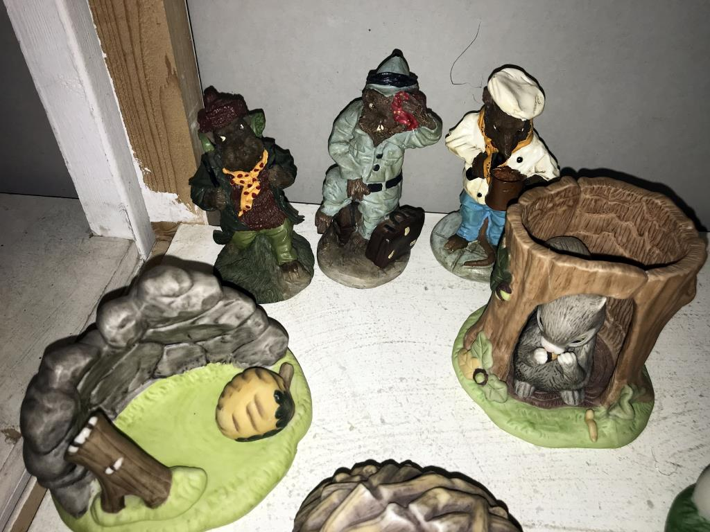 A quantity of Woodland surprises animal ornaments including frog, fox & beaver etc. - Image 2 of 3