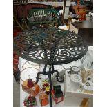 A garden table.