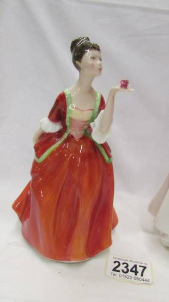 Two Royal Doulton figurines - Flower of Love, HN 3970 and Good Companion, HN 2347. - Image 2 of 5