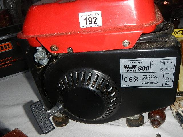 A Wolf 800 generator. - Image 2 of 2