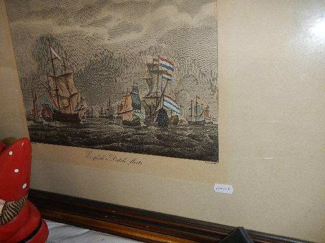 A pair of nautical prints of English and Dutch fishing fleets. - Image 3 of 4