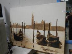 A Venetian scene on canvas.