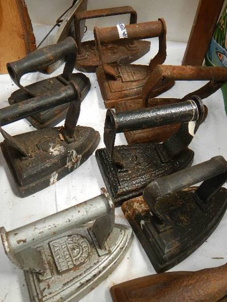 A quantity of old flat irons. - Image 3 of 3