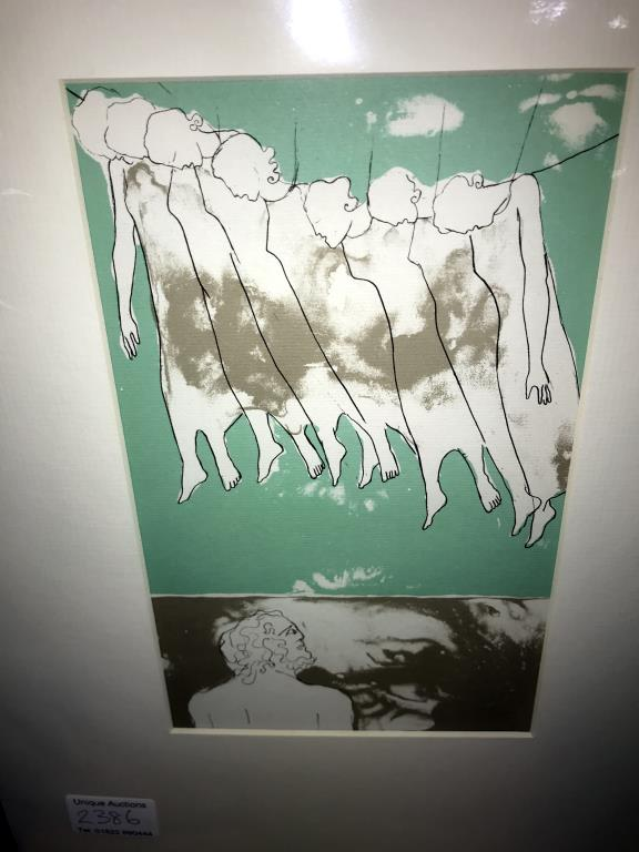 Elisabeth Frink (1930-1993) collection of 6 x lithographic prints on chain laid paper circa 1975. - Image 3 of 7
