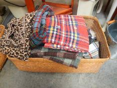 A mixed lot of picnic blankets etc.