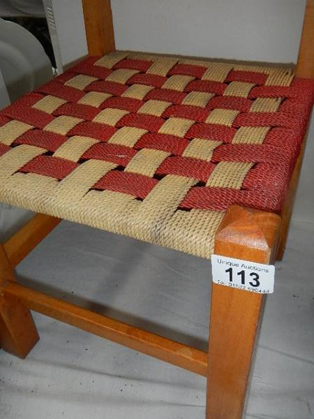 A small child's chair. - Image 2 of 2