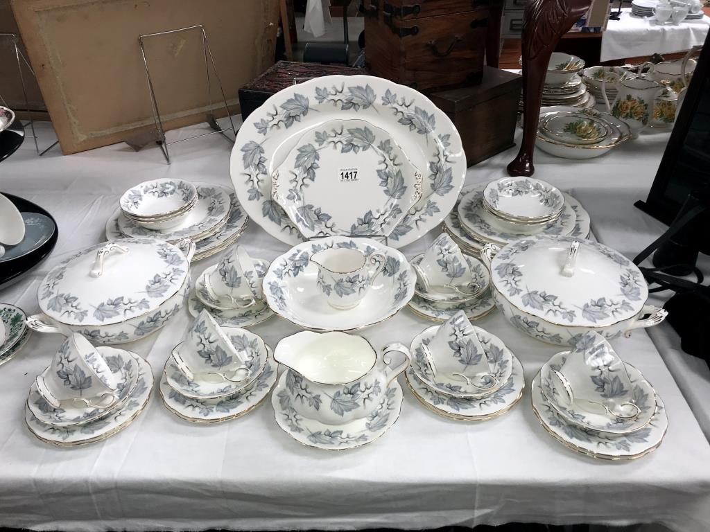 A 49 piece Royal Albert silver maple dinner & tea set