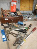 A mixed lot of tools.