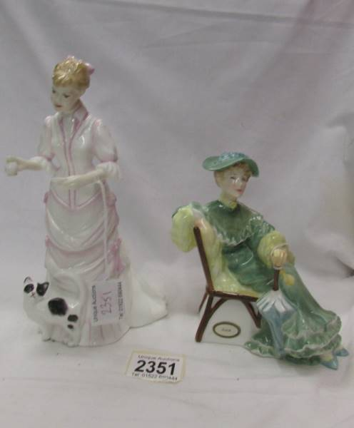Two Royal Doulton figurines - Lucy HN 3858 and Ascot HN 2356.