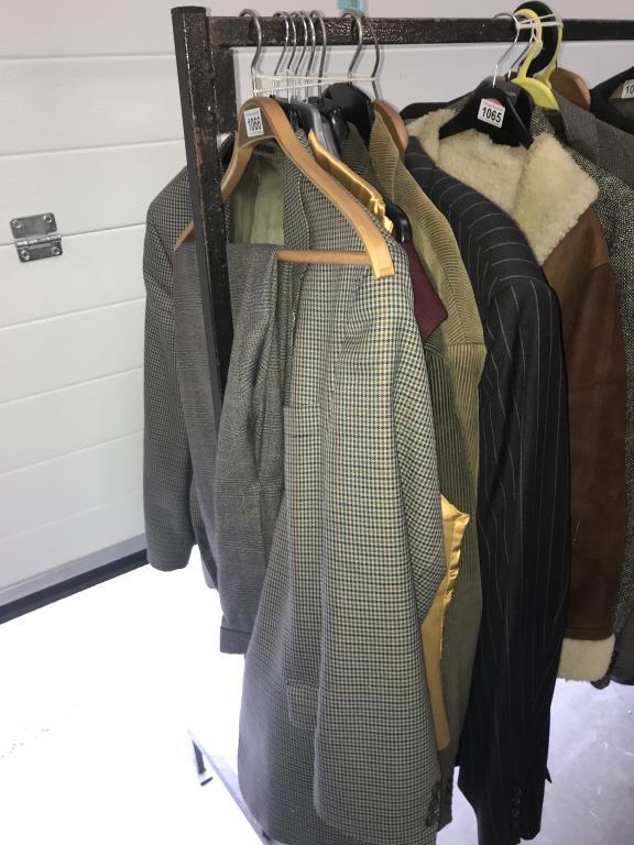 A quantity of vintage 2 piece suits/blazers.courdroy jackets etc. Brands Brook Taverner etc.