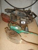 Three blow lamps, oil cans etc.