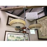 A retro chrome 3 arm ceiling light ****Condition report**** Collect only