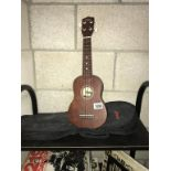 A Stagg handmade Ukulele US10 with case,