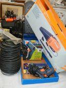 A glue gun, multi charger, inspection light etc.