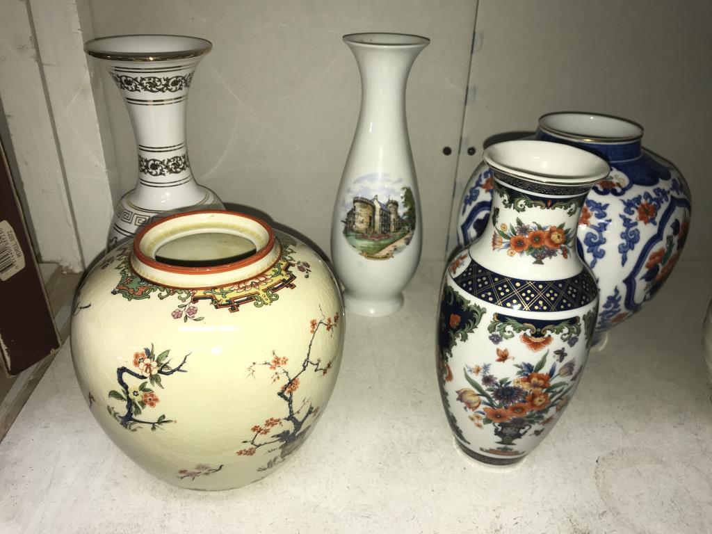 A quantity of vases including ginger jar (missing lid) - Image 2 of 3