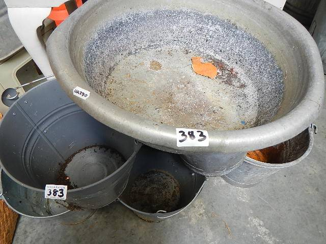 A quantity of galvanised buckets etc. - Image 2 of 2
