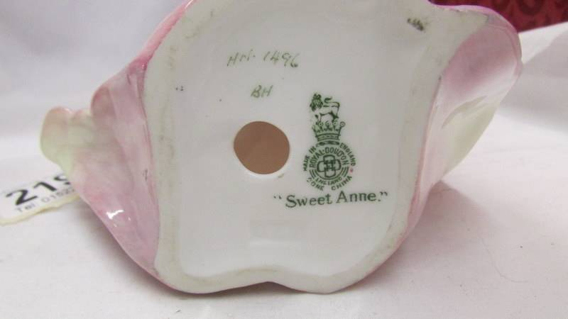 Two Royal Doulton figures - Sweet Anne HN1496 and Lady April (a/f) HN1958. - Image 6 of 6