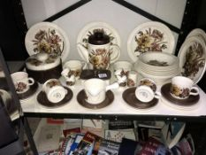 A quantity of Royal Worcester Palissy Charlotte dinner/tea ware, approx.