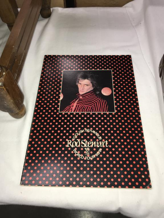 A quantity of music tour programmes including Bowie, Meatloaf & Rod Stewart etc. - Image 10 of 10