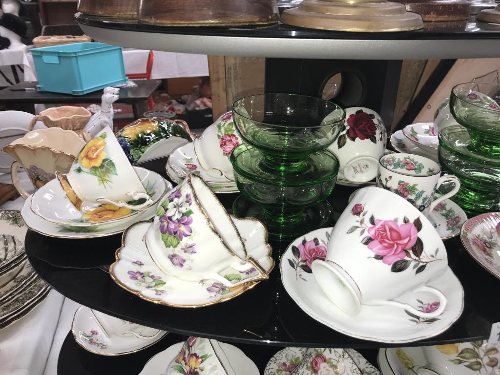A quantity of porcelain trio's & cups & saucers including Royal Albert etc. - Image 2 of 7