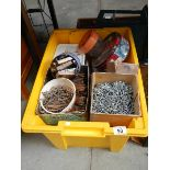 A large crate of nails etc.