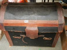 A domed top trunk, a/f.